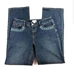 Ann Taylor Loft Beaded Jeans